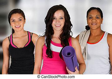 séance entraînement, yoga