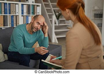 séance homme, psychologie, thérapie