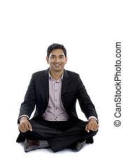 séance, indien, business, plancher