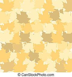 séché, feuilles, multicolore, vecteur, arrière-plan., automne