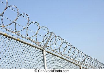 sécurité, 2, barrière