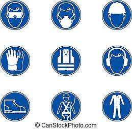 sécurité, au travail, signes