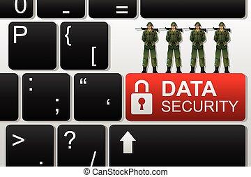 sécurité, concept, données