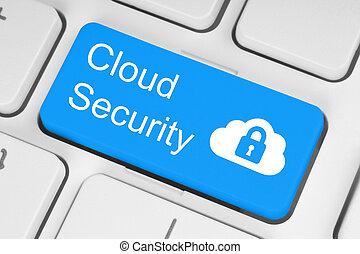 sécurité, concept, nuage, calculer