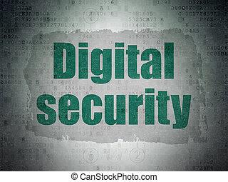 sécurité, concept:, numérique, sécurité, sur, numérique, données, papier, fond