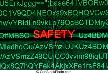 sécurité, concept