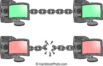 sécurité, connexion, illustration