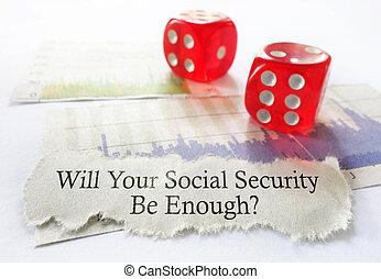 sécurité, dés, social