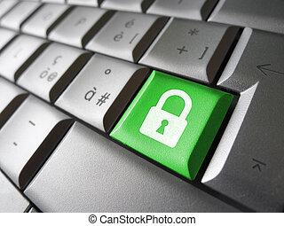 sécurité, données, clã©, internet