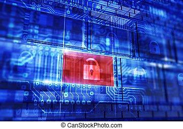 sécurité, données, concept