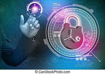 sécurité données, concept