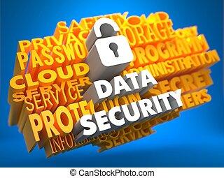 sécurité données, concept.