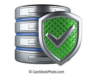 sécurité, données, concept.