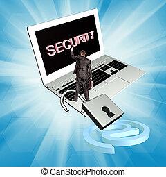 sécurité, e-affaires