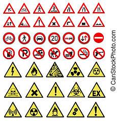 sécurité, et, travail, signe, collection