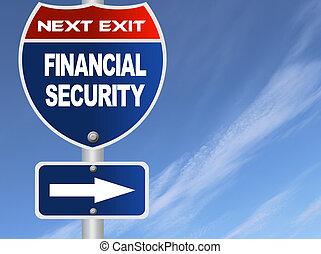 sécurité, financier, panneaux signalisations