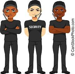 sécurité, fort, équipe