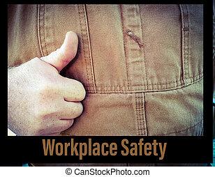 sécurité, frontière, lieu travail, noir