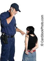 sécurité, gendarme, appeler