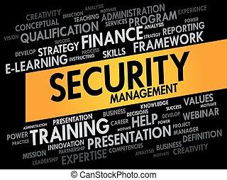 sécurité, gestion, mot, nuage