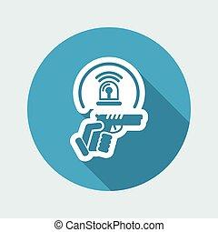 sécurité, icône