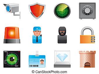 sécurité, icônes