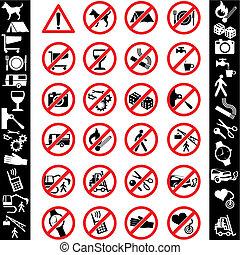 sécurité, ikons