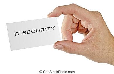 sécurité, il, carte