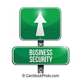 sécurité, illustration affaires, signe
