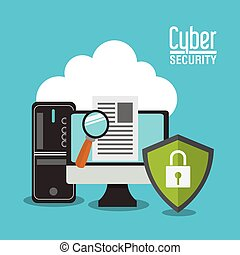 sécurité, informatique, conception, système, cyber