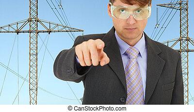 sécurité, ingénieur, dans, électrique, réseaux