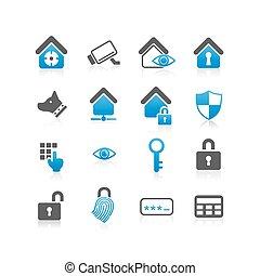 sécurité maison, concept, icône