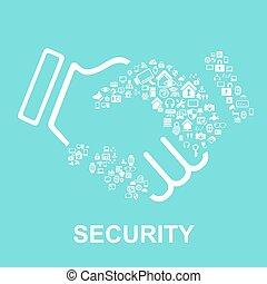 sécurité maison, concept