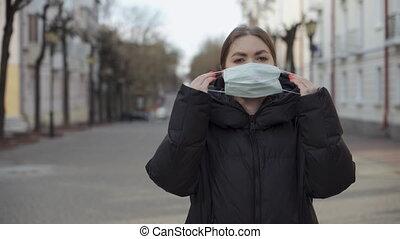 sécurité, mettre, covid-19, virus, n1h1, coronavirus, ...