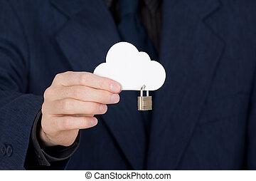 sécurité, nuage, calculer