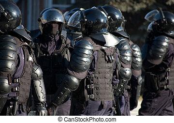 sécurité, public, forces