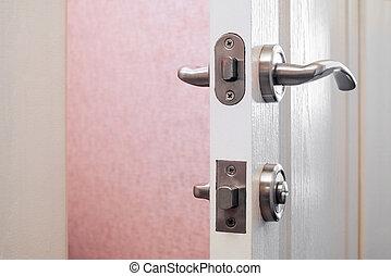 serrure salle bains porte serrure salle bains loquet photographies de stock. Black Bedroom Furniture Sets. Home Design Ideas