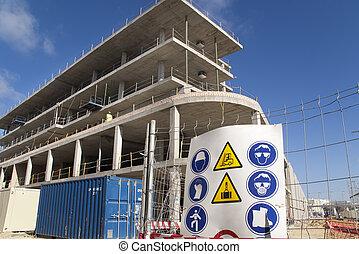 sécurité, signe construction