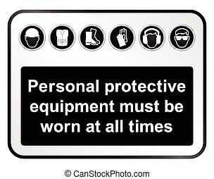 sécurité, signe, santé, noir