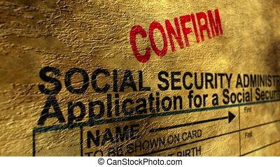 sécurité, social, confirmer