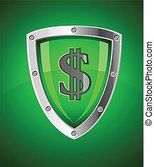 sécurité, symbole, sécurité, financier, bouclier
