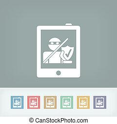 sécurité, tablette