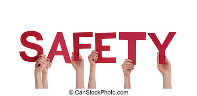 sécurité, tenue, gens