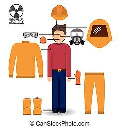 sécurité, vecteur, conception, illustration.