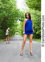 séduisant, deux femmes
