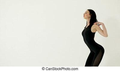 séduisant, femme, jeune, danse