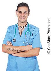 séduisant, médecine, étudiant