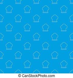 séf, motívum, blue kalap, seamless