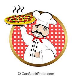 séf, pizza
