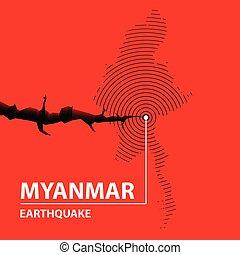 séisme, myanmar